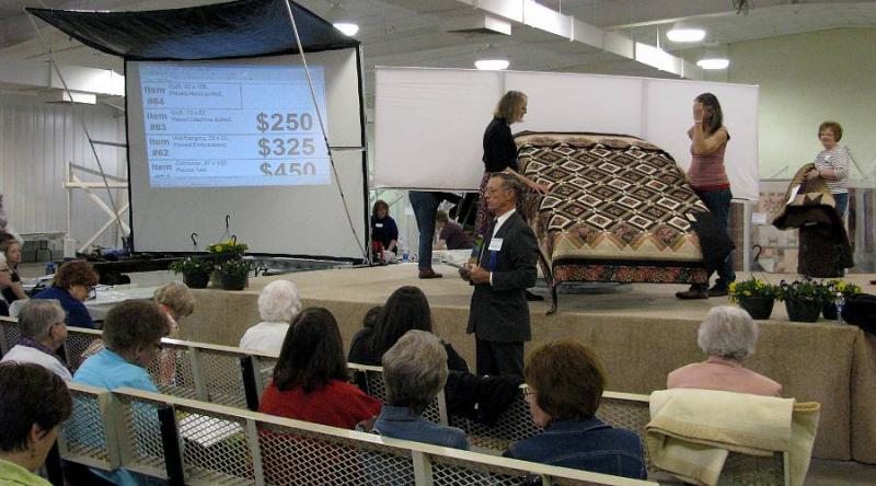 Quilt Auction at the Mennonite Relief Sale in Hutchinson